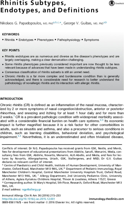 allergic rhinitis guidelines 2016 pdf